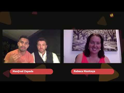 Con Manfred Zepeda Entrevistando a David Kubes